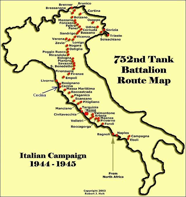 Американцы в италии: трудная дорога на север