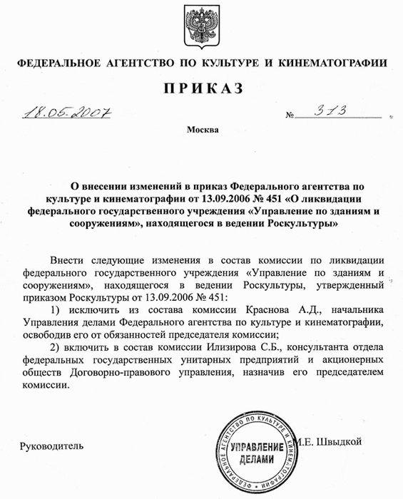 Приказ гнау от 8.12.2008 г. № 765 о внесении изменений в приказ гна украины от 18.04.2008 г. № 266