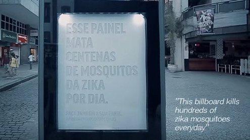 В городах испытывают новую спасительную рекламу